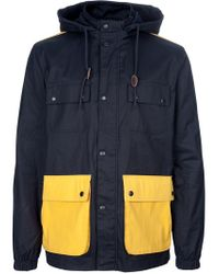 Farah Blue Raincoat for men