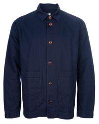 Folk Blue Utility Jacket for men
