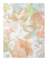 Fraas White Floral Silk Square Scarf