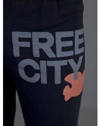 FREE CITY Black Sweatpants Trousers for men