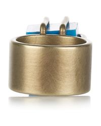 Kelly Wearstler | Blue Turquoise Cube Ring | Lyst