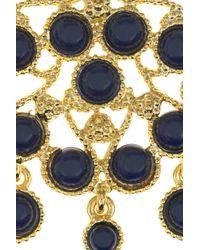 Kenneth Jay Lane - Metallic 22karat Goldplated Cabochon Necklace - Lyst