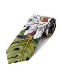 KENZO Blue Large Floral Tie for men