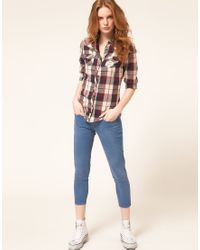 Levi's | Blue Levis Curve Id Demi Curve Ankle Skinny Jeans | Lyst