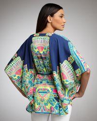 Mara Hoffman Multicolor Tie-waist Poncho Top