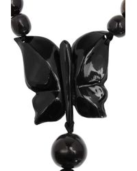 Marni - Black Resin and Snake Chain Butterfly Necklace - Lyst