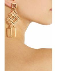 Oscar de la Renta - Metallic 24karat Goldplated Geometric Link Clip Earrings - Lyst