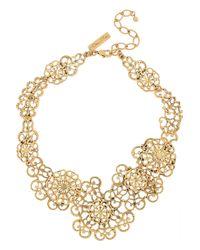 Oscar de la Renta Metallic 24karat Goldplated Necklace