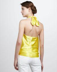 Ramy Brook Harriet Convertible Tieneck Top Yellow