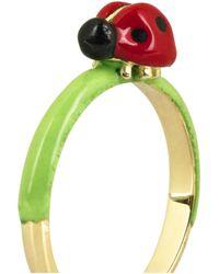Solange Azagury-Partridge Green Ladybird 18karat Gold Ring