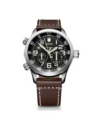 Victorinox | Mens Chronograph Airboss Mach 3 Brown Leather Strap for Men | Lyst