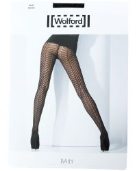 Wolford Black Baily Pattern Tights