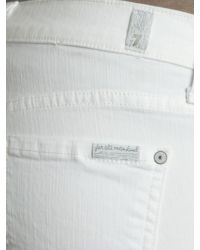 7 For All Mankind White Bootcut Jean