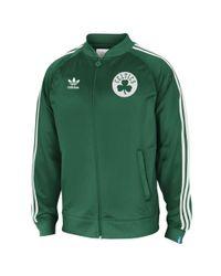 Adidas Green Boston Celtics Legacy Track Jacket for men