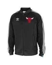 Adidas Black Chicago Bulls Legacy Track Jacket for men