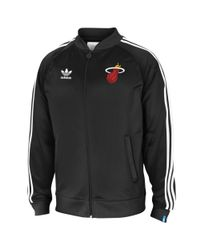Adidas Black Miami Heat Legacy Track Jacket for men