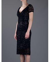Dolce & Gabbana   Black Crochet Dress   Lyst