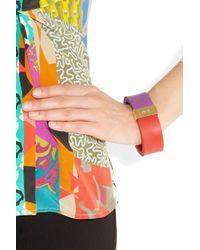 Etro Purple Colorblock Rubber Bangle