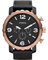 Fossil Black Nate for men