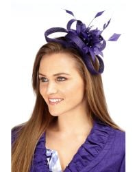 Precis Petite Purple Blackberry Bow Fascinator
