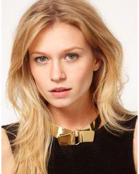 ASOS Metallic Asos Brass Collar
