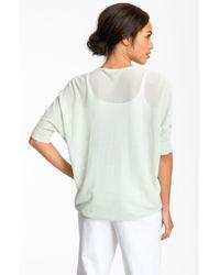 Eileen Fisher | Green Dolman Sleeve V-neck Top | Lyst
