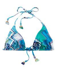 H&M Blue Bikini Top