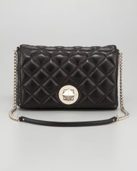 kate spade new york | Black Meadow Quilted Shoulder Bag Large | Lyst