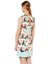 Oasis | Multicolor Oasis Aliza Mirrored Print Dress | Lyst