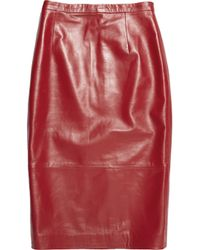 Tibi | Purple Leather Pencil Skirt | Lyst