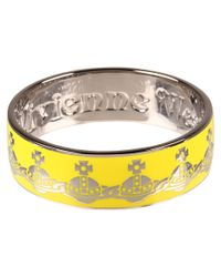 Vivienne Westwood | Yellow Orb Bangle | Lyst