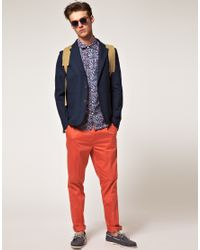ASOS | Pink Slim Fit Smart Trousers in Coral for Men | Lyst