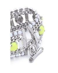 Juicy Couture | Metallic Multi Layer Gem Bracelet | Lyst