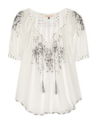 Rebecca Taylor | White Moroccan Embroidered Voile Top | Lyst