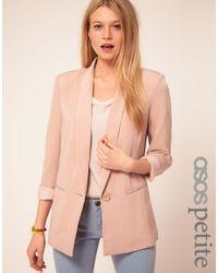 ASOS Pink Asos Petite Exclusive Slouchy Boyfriend Blazer