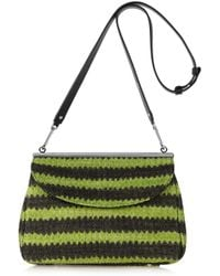 Marni - Green Striped Woven Shoulder Bag - Lyst