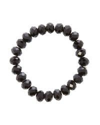 Mikey | Black Crystal Bead Bracelet | Lyst