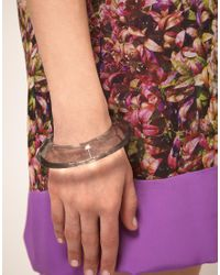 Ted Baker Purple Acrylic 'Youre A Gem' Bangle