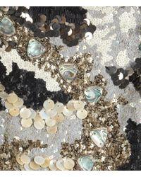 AllSaints Metallic Oyster Long Sleeved Dress