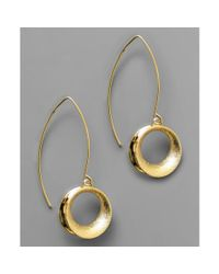 Anne Klein | Metallic Circle Drop | Lyst