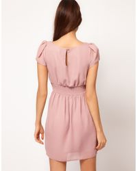 ASOS Purple Tulip Dress With Bow Detail
