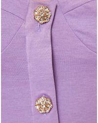 ASOS Natural Asos Tulip Dress with Button Front