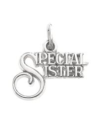 Eci Metallic Sterling Silver Special Sister Charm