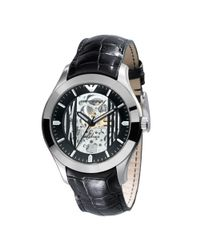 Emporio Armani | Meccanico Automatic Watch, Black for Men | Lyst