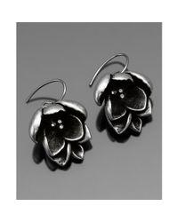 Fossil   Metallic Flower Earrings   Lyst