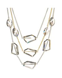 Kenneth Cole | Metallic Glass Illusion Necklace | Lyst