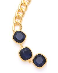 Kenneth Jay Lane - Metallic Stone Station Necklace - Lyst