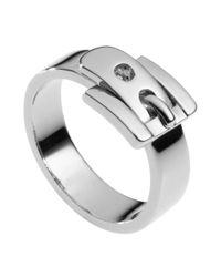 Michael Kors Metallic Buckle Ring, Silver