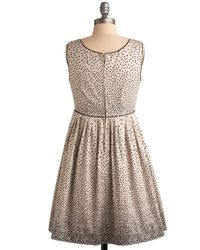 ModCloth - Natural Sprinkled with Sweetness Dress in Cream - Lyst