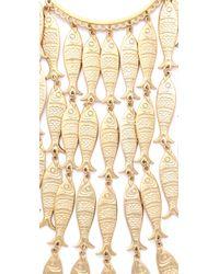 Tory Burch - Metallic Fish Necklace - Lyst